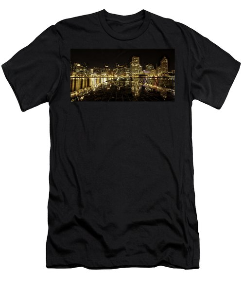 Men's T-Shirt (Athletic Fit) featuring the photograph San Francisco Skyline by Chris Cousins
