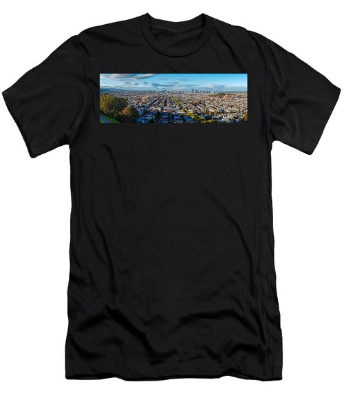 San Francisco Skyline From Bernal Heights Park At Sunset - San Francisco California Men's T-Shirt (Athletic Fit)