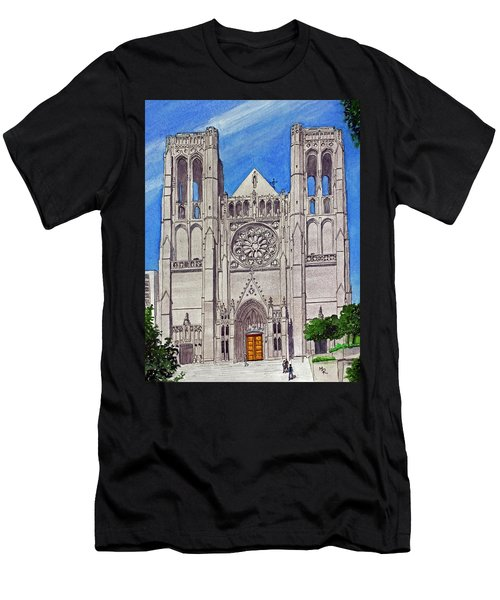 San Francisco's Grace Cathedral Men's T-Shirt (Athletic Fit)