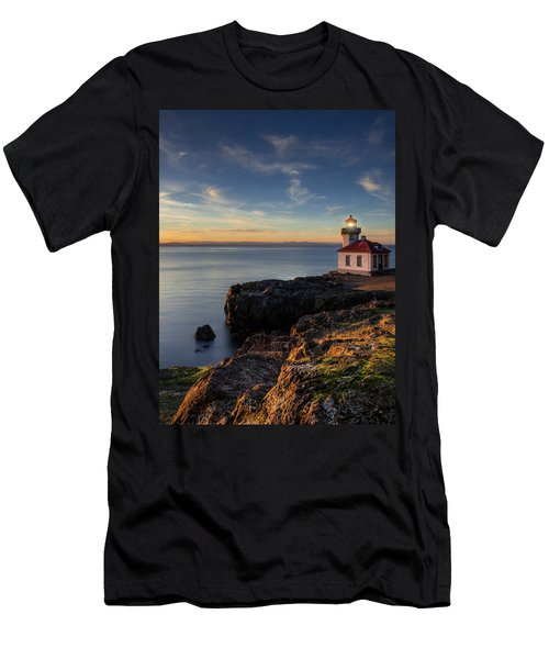 Men's T-Shirt (Slim Fit) featuring the photograph San Juan Island Serenity by Dan Mihai
