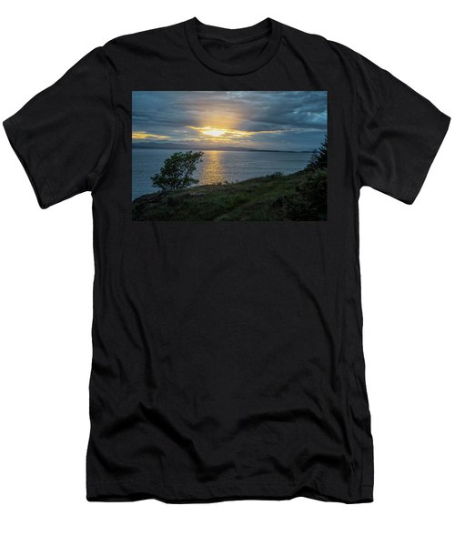 Men's T-Shirt (Athletic Fit) featuring the photograph San Juan Island Sunset by Tom Singleton