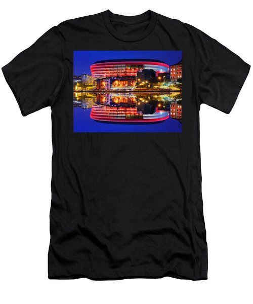 San Mames Stadium At Night With Water Reflections Men's T-Shirt (Athletic Fit)