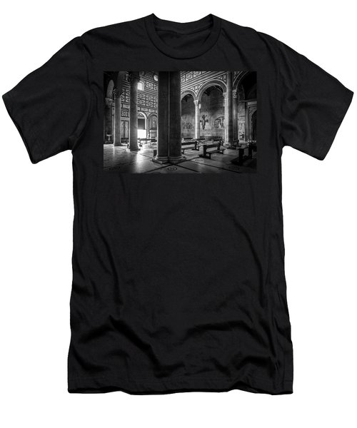 Men's T-Shirt (Slim Fit) featuring the photograph San Miniato Al Monte by Sonny Marcyan