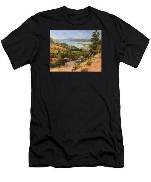 San Rafael Bay From Via La Cumbre, Greenbrae, Ca Men's T-Shirt (Athletic Fit)