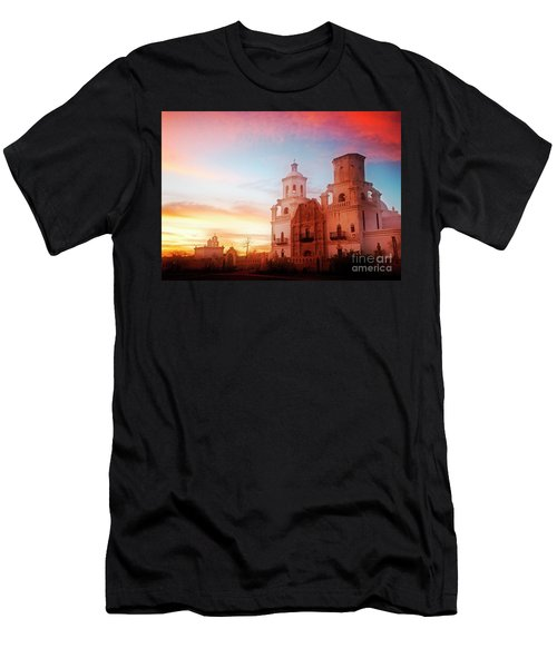 Men's T-Shirt (Athletic Fit) featuring the photograph San Xavier Del Bac by Scott Kemper