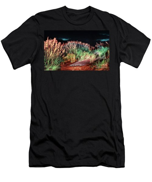 Sand Dunes At Night On The Outer Banks Ap Men's T-Shirt (Athletic Fit)