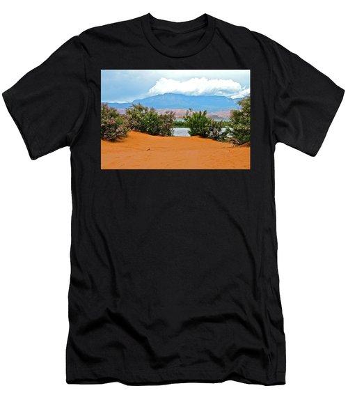 Sand Hallow Reservoir Men's T-Shirt (Athletic Fit)