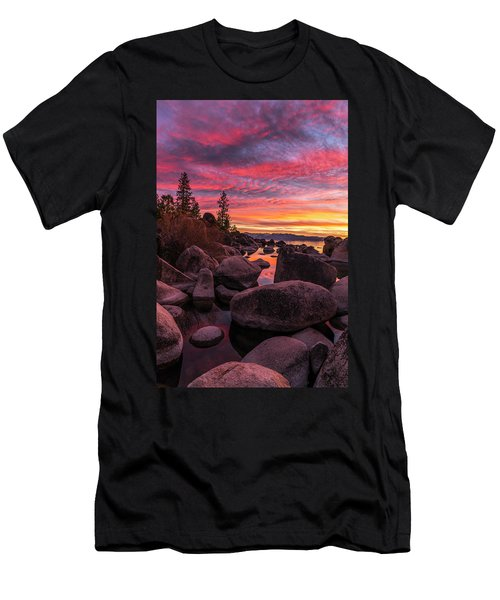 Sand Harbor Beach Men's T-Shirt (Athletic Fit)