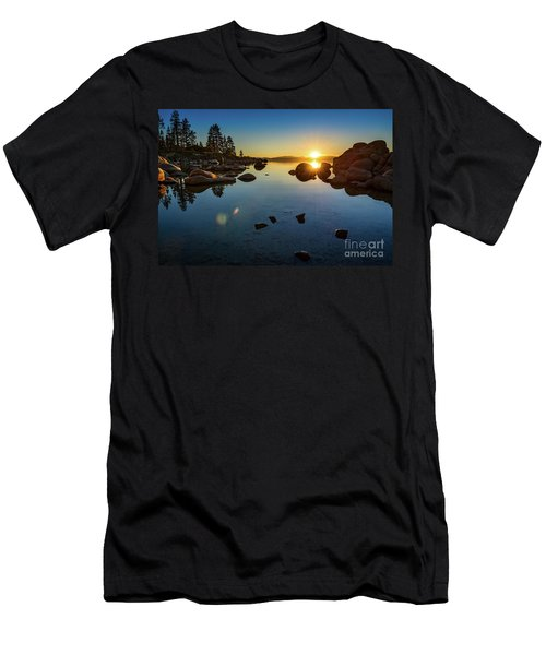 Sand Harbor Sunset Men's T-Shirt (Athletic Fit)