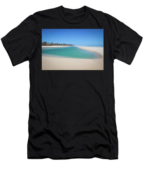 Sand Island Paradise Men's T-Shirt (Athletic Fit)