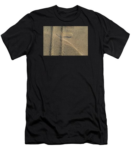 Men's T-Shirt (Slim Fit) featuring the photograph Sand Tracks  by Lyle Crump