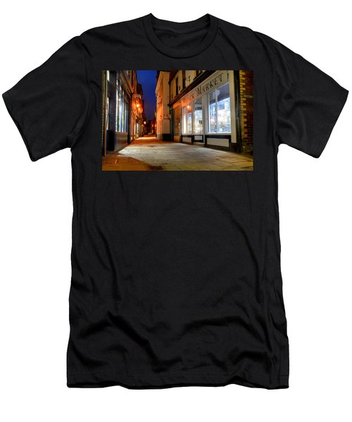 Sandgate, Whitby At Night Men's T-Shirt (Athletic Fit)