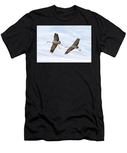 Sandhill Crane Approach Men's T-Shirt (Athletic Fit)