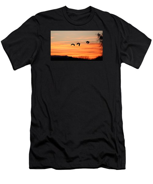 Sandhill Sunrise 2 Men's T-Shirt (Athletic Fit)