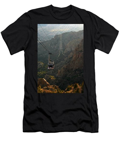 Sandia Peak Cable Car Men's T-Shirt (Athletic Fit)