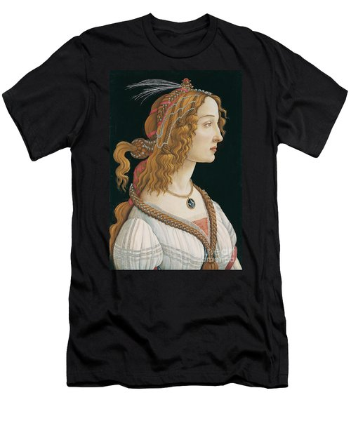 Sandro Botticelli - Idealized Portrait Of A Young Woman 1480 - 1485 By Sandro Botticelli Men's T-Shirt (Athletic Fit)