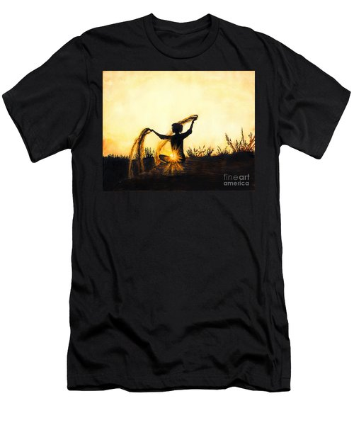 Sands Of Time Men's T-Shirt (Athletic Fit)