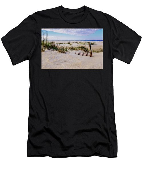 Sand  Fences On The Bogue Banks 2 Men's T-Shirt (Athletic Fit)