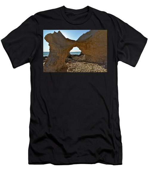 Sandstone Arch In Gale Beach. Algarve Men's T-Shirt (Athletic Fit)