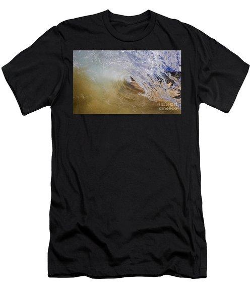 Sandy Beachbreak Wave Men's T-Shirt (Athletic Fit)