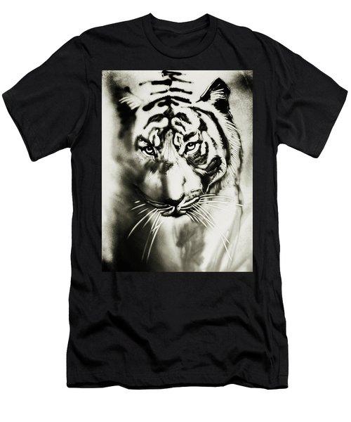 Sandy Tiger Men's T-Shirt (Slim Fit) by Elena Vedernikova