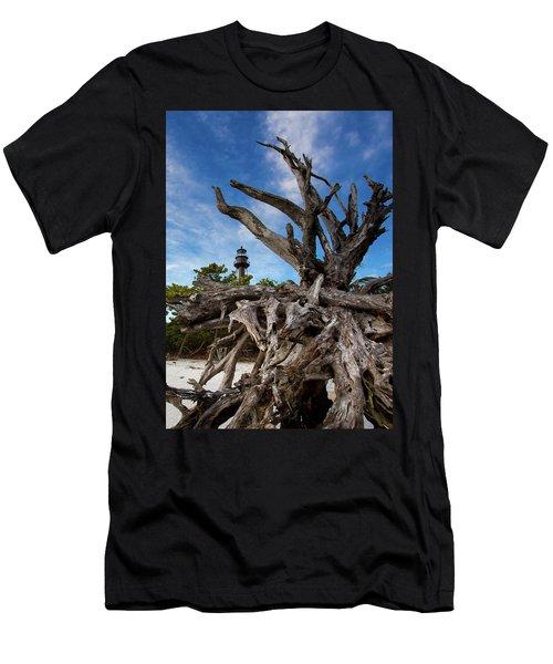 Sanibel Lighthouse Men's T-Shirt (Athletic Fit)