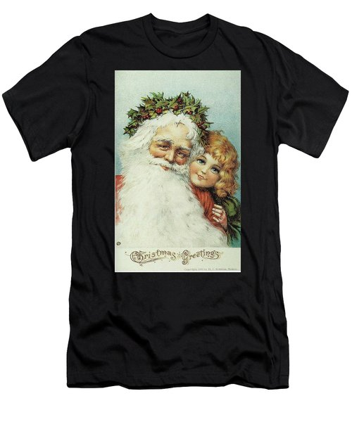 Santa And His Little Admirer Men's T-Shirt (Athletic Fit)
