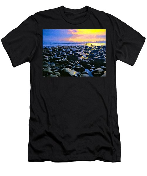 Santa Barbara Beach Sunset California Men's T-Shirt (Athletic Fit)