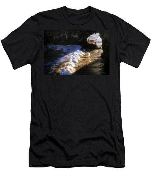 Santa Cruz 'bridge' California Coastline Men's T-Shirt (Athletic Fit)