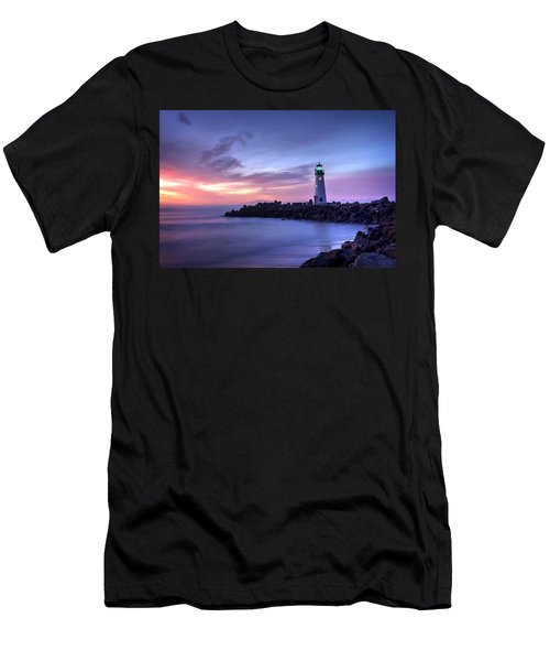 Santa Cruz Harbor Mouth Sunrise Men's T-Shirt (Athletic Fit)