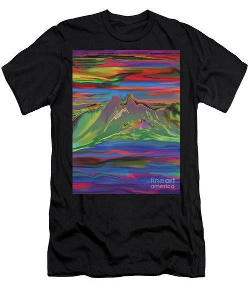 Santa Fe Sunset Men's T-Shirt (Athletic Fit)