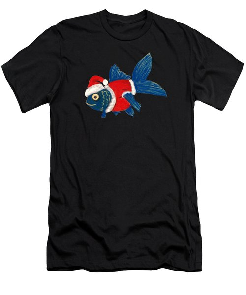 Santa Fish Men's T-Shirt (Athletic Fit)