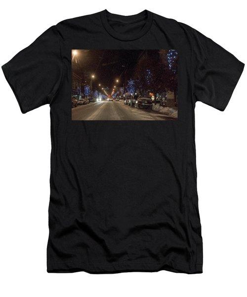 Men's T-Shirt (Slim Fit) featuring the photograph Santa Visits Bradford by Wade Aiken