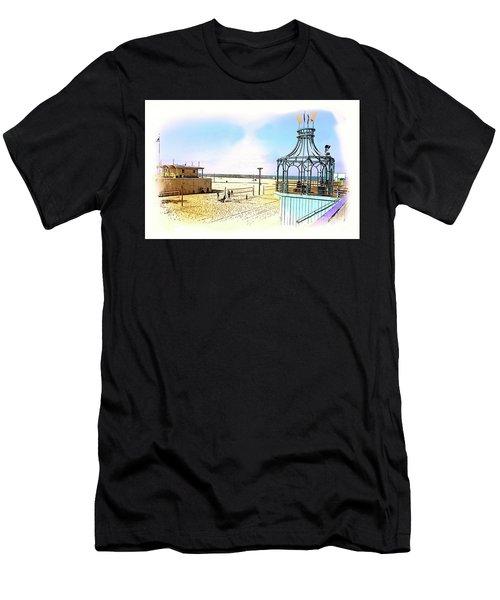 Santa Monica Pier Ver1  Men's T-Shirt (Athletic Fit)