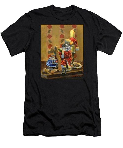 Santa Mouse Men's T-Shirt (Athletic Fit)