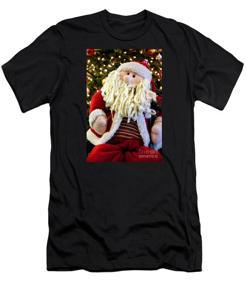 Santa Takes A Seat Men's T-Shirt (Athletic Fit)