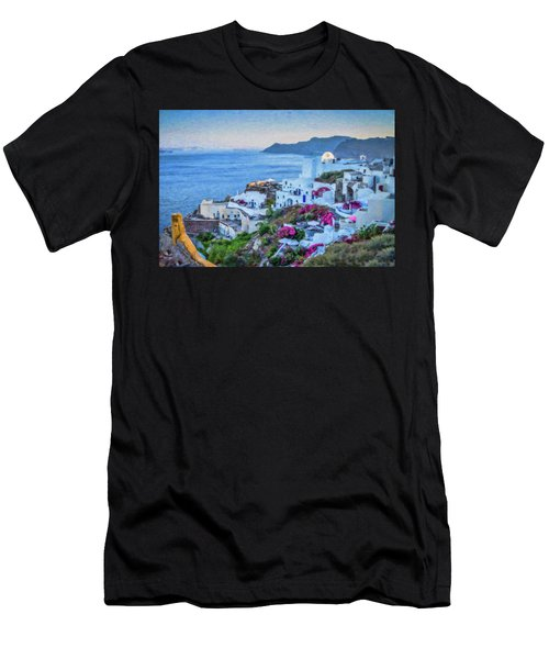 Santorini Greece Dwp416136  Men's T-Shirt (Athletic Fit)
