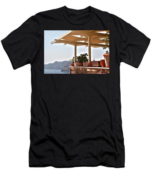 Santorini, Greece - Restaurant Men's T-Shirt (Athletic Fit)