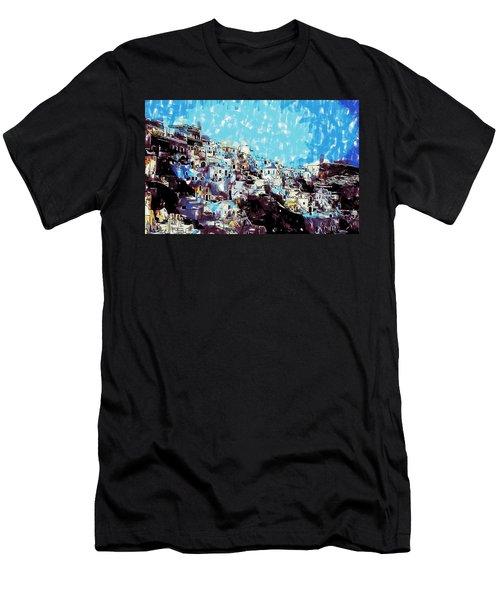 Santorini Island Men's T-Shirt (Athletic Fit)