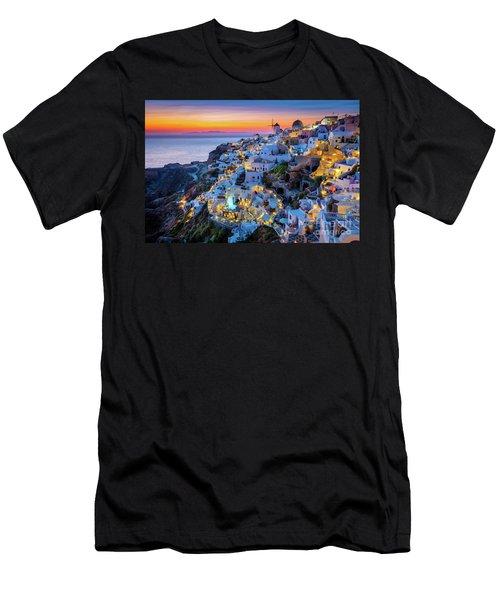 Santorini Sunset Men's T-Shirt (Athletic Fit)