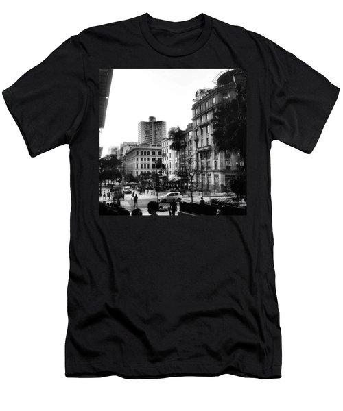 Sao Paulo Downtown #pracaantonioprado Men's T-Shirt (Athletic Fit)