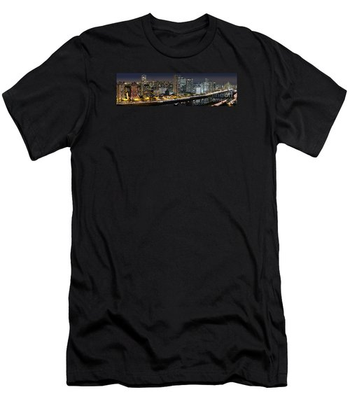 Sao Paulo Iconic Skyline - Cable-stayed Bridge  Men's T-Shirt (Athletic Fit)