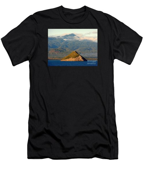Sao Tome Africa Harbor Men's T-Shirt (Athletic Fit)