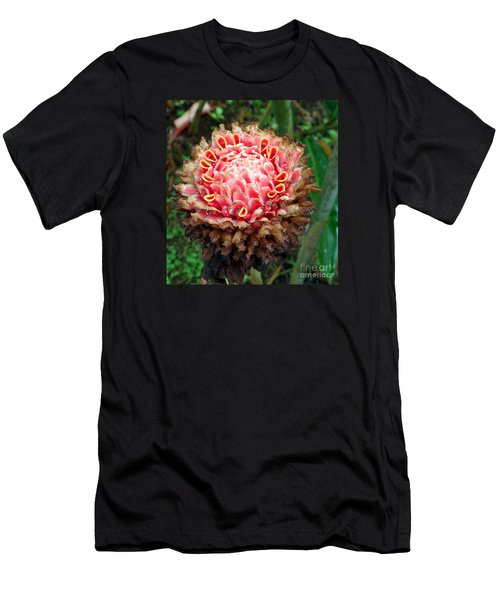 Sao Tome Blosssom Men's T-Shirt (Athletic Fit)