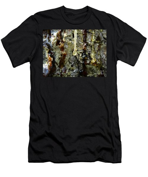 Men's T-Shirt (Athletic Fit) featuring the photograph Sap Drip by Robert Knight