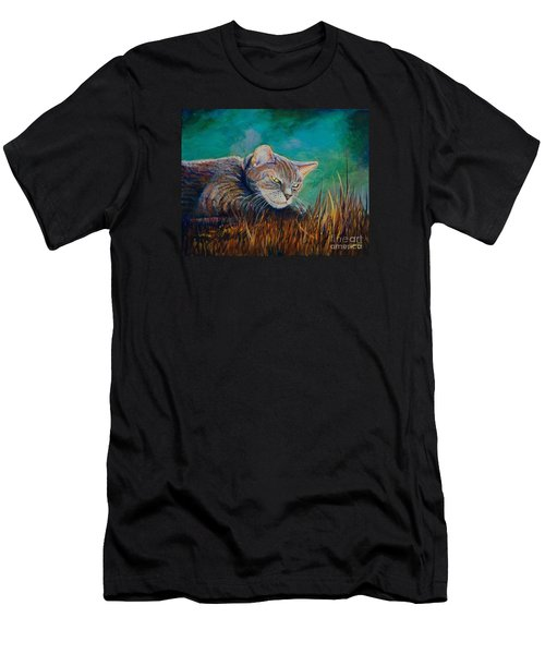 Men's T-Shirt (Slim Fit) featuring the painting Saphira's Lawn by AnnaJo Vahle