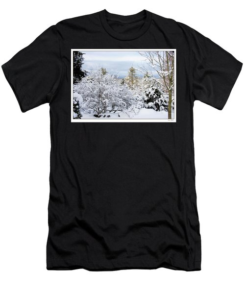 Saratoga Winter Scene Men's T-Shirt (Athletic Fit)