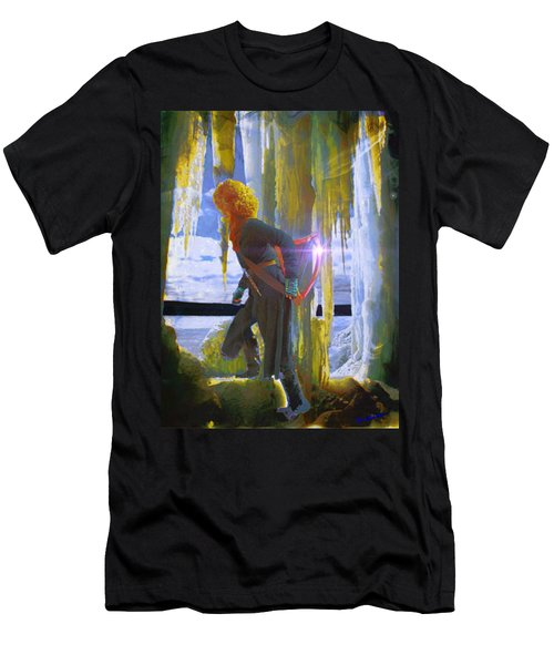 Men's T-Shirt (Slim Fit) featuring the photograph Sarkis Passes Through The Ice Curtain by Anastasia Savage Ealy