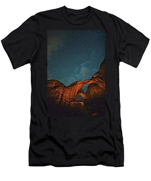 Satellites Crossing In The Night Men's T-Shirt (Athletic Fit)