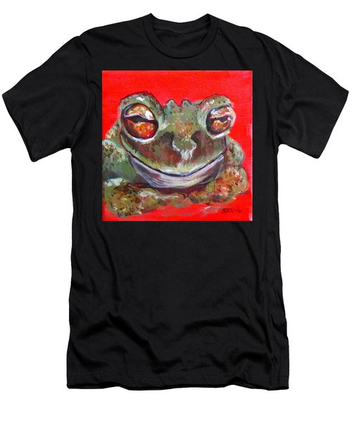 Satisfied Froggy  Men's T-Shirt (Athletic Fit)